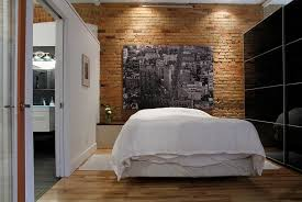 industrial bedroom design. Delighful Industrial Contrasting Black And White Surfaces With A Brick Wall Backdrop Design  Esther Hershcovich Inside Industrial Bedroom Design R