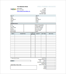 Pro Forma Document Examples 6 Proforma Invoice Template Free Sample Example Format Download