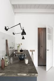 task lighting kitchen. Black Wall Mounted Task Lighting In The Kitchen |black Lampe Gras Lights | Of Week: Curtained Kitchen, Dutch Modern T