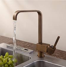 Antique Inspired Solid Brass Kitchen Faucet Antique Brass Finish