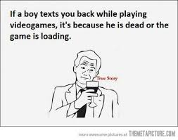 Truth about boys and video games - The Meta Picture via Relatably.com