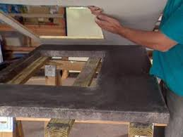 how to make a concrete countertop how