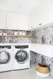 Laundry Room Wallpaper Designs Mandy Moore Finally Reveals Her Beautiful Laundry Room