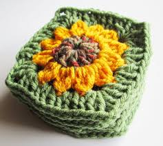 Crochet Sunflower Pattern Beauteous Vol 48 Crochet Pattern Granny Square Sunflower YouTube