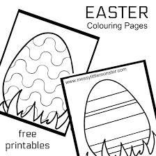 Easter Egg Colouring Pages Messy Little Monster