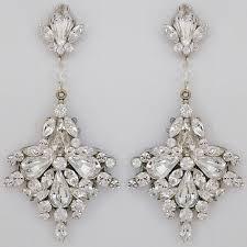 erin cole bridal earrings large fan drop chandelier earrings chandelier wedding earrings