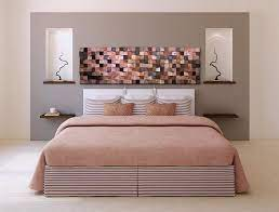 bedroom wall art above bed decor wooden