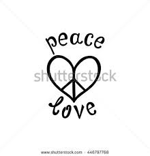 Quote About Peace And Love Delectable Peace Love Inspirational Quote Modern Calligraphy Stock Vector