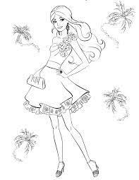 Tranh tô màu công chúa Barbie