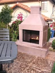 prefab outdoor fireplace kits living