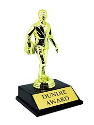 Office Award Amazon Com Alpha Awards Dundie Award Trophy For The Office Clothing