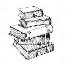 Stylo Dessin Une Pile De Livres Cliparts Vectoriels Et Plus D