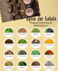 Spice Jar Labels Printable Kitchen Labels And Pantry Labels