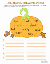 We have lots of free, fun spelling worksheets! Halloween Rhymes Worksheet Education Com