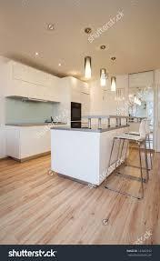 Small Flat Kitchen Stylish Flat Small Cosy Kitchen Modern Stock Photo 127467332