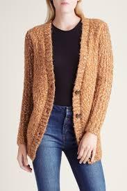 Kensie Clothing Size Chart Kensie Toffee Combo Twisted Slub Boucle Long Sleeve Cardigan