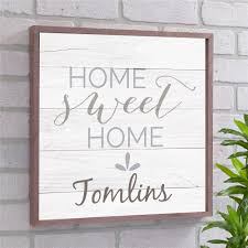 Home Sweet Home Personalized Wall Decor
