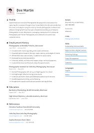 Free Resume Ideas Photographer Resume Templates 2019 Free Download Resume Io