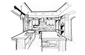 interior design kitchen drawings. Brilliant Interior Kitchen Design Sketch Adorable Daedalus Studio Ideas For Interior Drawings