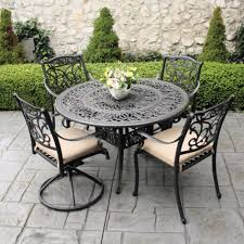 fice extraordinary metal patio table and chairs 8 pretty garden furniture s 31 deck black