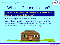key stage poetry analysing imagery ppt what is personification