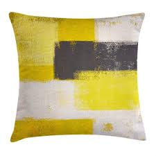 Grey And Yellow Decorative Pillows