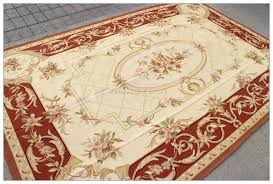 rug vintage fl red beige aubusson area rugs blue