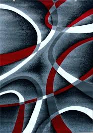 black white grey area rugs red and rug awesome abstract