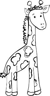 Coloring Page Of A Giraffe The Giraffe Coloring Book Giraffe Color