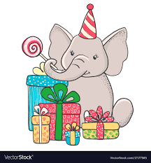 Elephant Design Gifts Cute Hand Drawn Elephant With Gifts