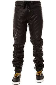 The Quilted Vegan Leather Jogger Pants in Black by KITE use rep ... & Kite Men'S The Quilted Vegan Faux Leather Comfortable Jogger Pants Black Adamdwight.com