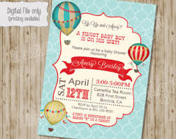 40 Best Baby Shower Hot Air Balloon Theme Images On Pinterest Vintage Hot Air Balloon Baby Shower