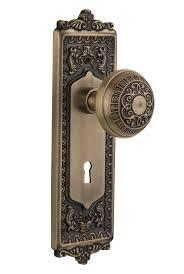 Antique looking door knobs Repurposed Vintage Door Popular Style Combinations Rejuvenation Egg Dart Door Knob Collection Nostalgic Warehouse