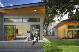 A Shaped House Design Bold And Modern U Shaped Courtyard House Designed Around Trees