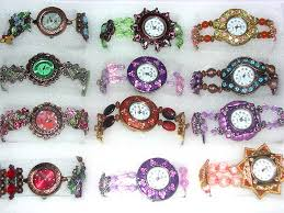 whole fashion jewelry supplier distributes china manufactured watches circular watch framed by colored enamel with