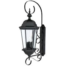 3 lamp outdoor wall fixture capital