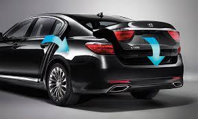 2018 kia k9. exellent kia standard smart open trunk and available power pullin doors on 2018 kia k9
