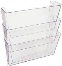office paper holders. Wall Mounted File Pocket A4 Linking 3 Pockets Doent Office Paper Holders E