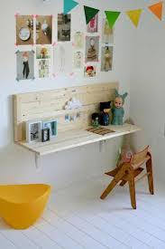 wall mounted desks for the little ones