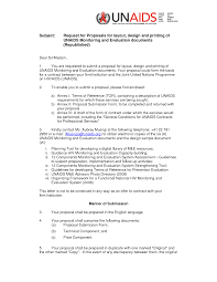 Rfp Cover Letter Project Scope Template
