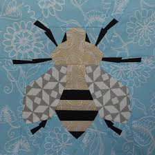 Spring Bee Quilt Block - Free PDF Paper Piecing Pattern ... & Spring Bee Quilt Block Adamdwight.com