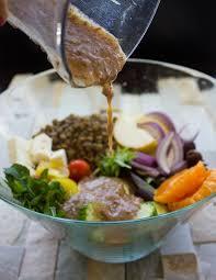 Greek • Two Purple Orange Figs Lentil Salad