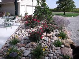 Landscape Plants Beautiful Design On The Front Yard With Small Garden With  Stone Design With Stone Border With Colorfull Flowers and Trees - Patio  Landscape
