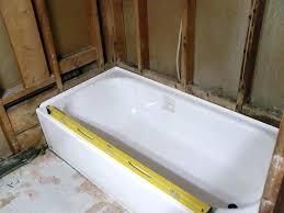 installing a new bathtub how