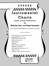 Piccolo Flute Finger Chart Rubank Fingering Charts Flute And Piccolo By Sheet Music