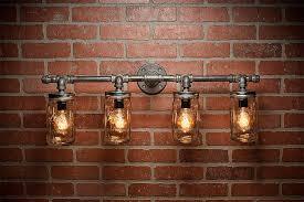 mason jar lights industrial light edison bulb rustic light vanity light wall light wall sconce steampunk light free