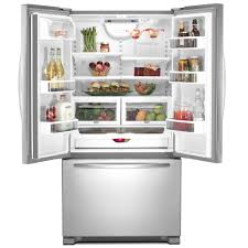 French Door 22 cubic foot french door refrigerator pictures : 2. Samsung RFG237AA Counter Depth French Door Bottom Freezer ...