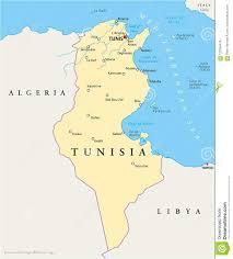 Tunisia Political Map Stock Vector Illustration Of Lampedusa