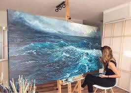 paintings of waves vanessa mae ocean art paintings stus of water abstract