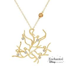 disney enchanted fine jewelry belle s tree of life necklace 1 6ctw